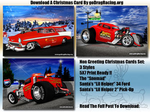 Drag Racing Christmas Cards Ready To Print