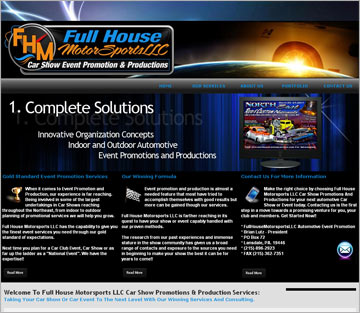 Car Show Website Design For Full House Motorsports LLC