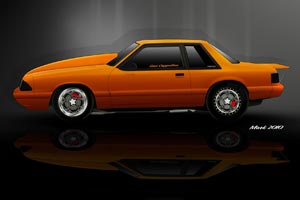 Mustang Notchback Rendering and 1440X960 Wallpaper
